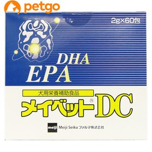 メイベットDCは不飽和脂肪酸を主成分とする犬用栄養補助食品です。