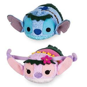 Disney ディズニー スティッチ エンジェル ぬいぐるみ ハワイアン Stitch and Angel Tsum Tsum Plush Hawaiian 並行輸入品 petit-bonheur1
