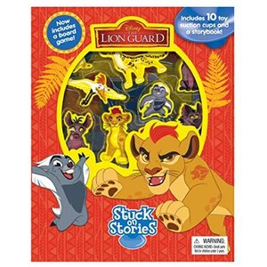 ライオンキング 絵本 本 吸盤付き フィギュア 10個付き お風呂でも遊べるよ! The Lion Guard The Lion King Figure and Book [並行輸入品] petit-bonheur1