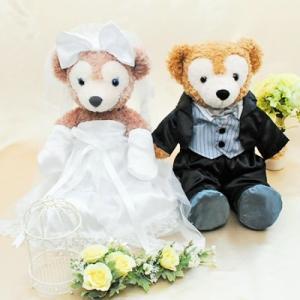 ダッフィー ウェディング 衣装 ペアセット ウエディング 結婚式 ウェルカムドール タキシード ブラック|petit-colle