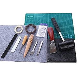 レザークラフト 工具 手縫い スターターキット 14点 セット 道具 革