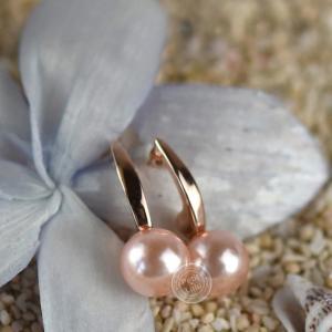 ピアス レディース  パール 真珠 フープピアス ホワイト ピンク 一粒 フープ 揺れる 3色展開k18 18金RGP ジュエリー|petit-lulu