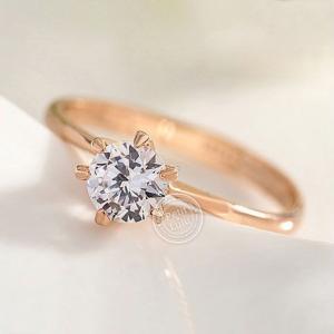 指輪 レディース  リング 華奢 6本爪 一粒 ダイヤモンド...