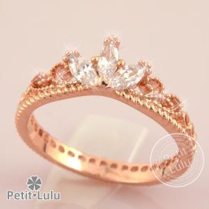リング 指輪 レディース 最高級スワロフスキー ティアラ 姫 プリンセス 王冠 エレガント ロマンテ...