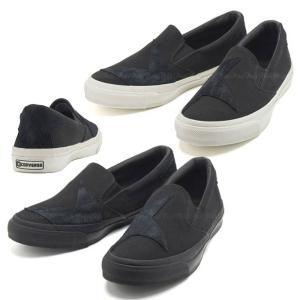 Converse(コンバース) SKIDGRIP BS SLIP-ON スター柄 スリッポン[ブラック×ブラック]|petit-petit