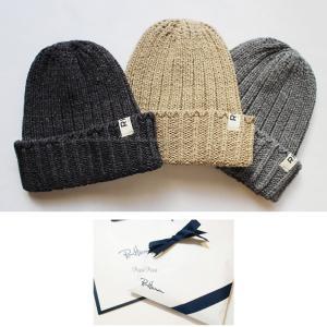 RHC Ron Herman(ロンハーマン) ロゴタグ付 ニット ビーニー 帽子 通年使える リブ編み コットン|petit-petit