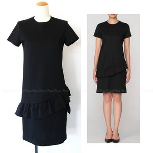 YOKO CHAN(ヨーコ チャン) ハーフスリーブ ペプラムヘムドレス [セール/36サイズ]|petit-petit