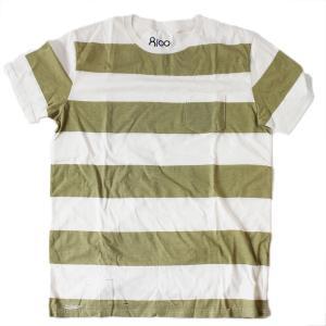Ron Herman ロンハーマン 8100 ダメージ加工Tシャツ  半袖 ボーダー|petit-petit