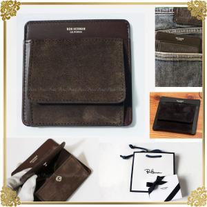 Ron Herman ロンハーマン 便利でかっこいい 黒レザー コイン+カードケース 小銭入れ  財布 ギフト箱入り|petit-petit
