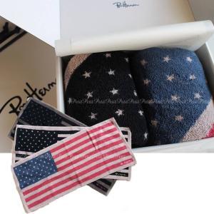 Ron Herman(ロンハーマン) New flag towel 星条旗 [バスタオル2枚セット/ギフトボックス入り]|petit-petit