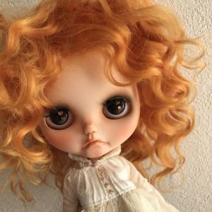 *ネオブライスサイズのモヘアウィッグ♪  *明るいオレンジ系がとっても可愛いです(^^)  *ふわふ...