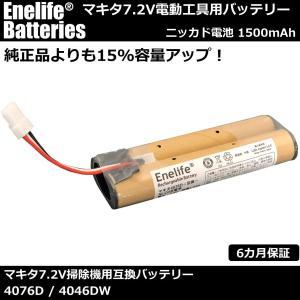 マキタ掃除機4076D互換バッテリー7.2V【日本メーカーによる保証とサポート】<純正品比15%容量アップ>|petite-marche-tech