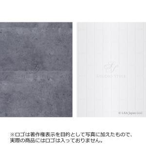 STUDIO-STYLE 大型 フォトスタイリングボード (写真撮影用背景ボード)<無機質 L版>(白レンガ&コンクリート)|petite-marche-tech