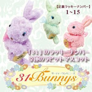 小さな幸せうさぎのマスコット☆ 幸運をもたらすラビットフットに刻まれた数字は、 あなたのラッキーナン...