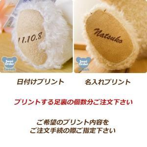 お名前/記念日 3S〜Mサイズ・RBPタイニー足裏プリントオ...