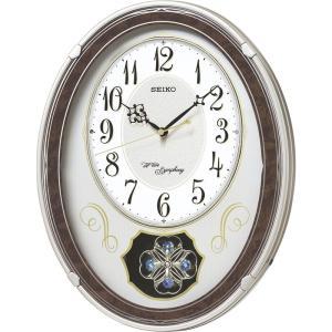 セイコー ウェーブシンフォニー電波正時メロディ掛時計 掛時計 AM259B 快気祝い|petitpresent