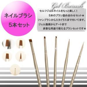 【22】ネイルブラシ 5本セット ネイルアート 筆 高品質【メール便可】 petitprice