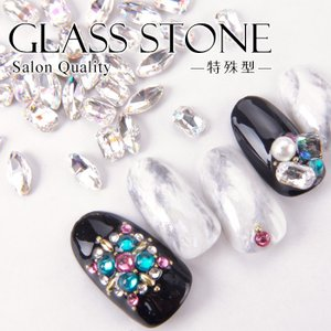 高品質ガラスストーン 特殊型 [ ジェルネイル ネイル ラインストーン デコ ] 【メール便可】|petitprice