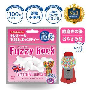 キシリトール あめ 100% キャンディー FuzzyRock バブルガム味  タブレット アメ 虫歯 甘い 歯磨き ノンシュガー 糖類オフ 防災 歯 矯正|petittomall