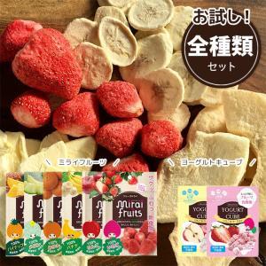 フリーズドライ 食品 フルーツ ミライフルーツ ヨーグルトキューブ いちご りんご バナナ パイナップル みかん メロン 全種類セット 8パック 防災 petittomall