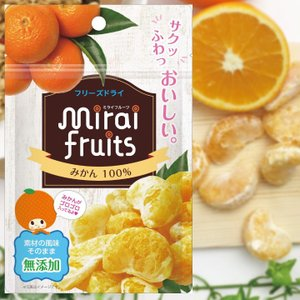 フリーズドライフルーツ mirai fruits ミライフルーツ みかん 10g 無添加 ベビーフー...
