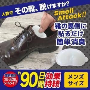靴 消臭 抗菌 スメルアタック メンズ 一足分 2個入り 左右用 天然 由来 成分 Smell Attack!! ポイント消化|petittomall