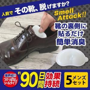 靴 消臭 抗菌 スメルアタック メンズ 一足分 2個入り メンズ5セット 左右用 天然 由来 成分 Smell Attack!! ポイント消化|petittomall