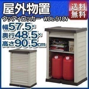 物置 屋外 小型 収納庫 ウッディロッカー WDL-910V アイリスオーヤマ petkan