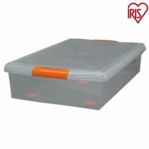 収納ケース 薄型ボックス 6個セット UG-725 クリア オレンジ アイリスオーヤマ ベッド下収納 隙間収納 収納ボックス 収納ケース 衣類収納 送料無料(あすつく)|petkan