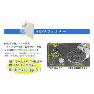 空気清浄機 花粉 タバコ 加湿 加湿空気清浄機  加湿器 フィルター コンパクト 静音 ウイルス対策 10畳 HXF-A25 アイリスオーヤマ petkan 05