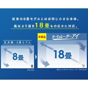 扇風機  サーキュレーター 18畳 ボール型左右首振り ホワイト 涼しい サーキュレーターアイ PCF-SC15 アイリスオーヤマ(あすつく)|petkan|06