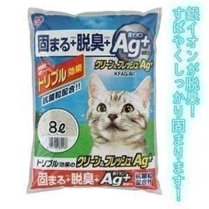 猫砂 クリーン&フレッシュ Ag+ 8LKFAG-80 アイリスオーヤマ(あすつく)|petkan
