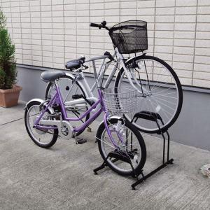 自転車 スタンド 2台用 自転車置き場 BYS-2 省スペース 自転車スタンド 家庭用 駐輪スタンド サイクルラック 自転車ラック アイリスオーヤマ|petkan|02