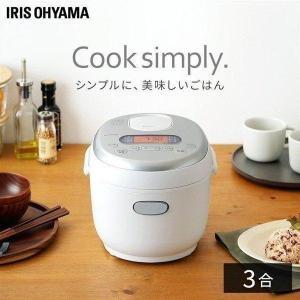 炊飯器 3合 アイリスオーヤマ 一人暮らし 米屋の旨み ジャー炊飯器 ホワイト ERC-MD30-W