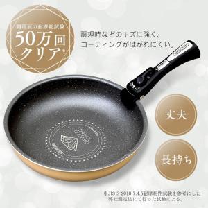 フライパン ダイヤモンドコートパン 12点セット GS-SE12 ガス火専用 アイリスオーヤマ KITCHEN CHEF|petkan|05