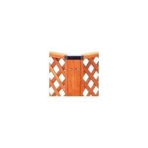 ウッドデッキ キット ガーデンウッドデッキ別売品 コーナー用ポスト GSD-985P ブラウン アイリスオーヤマ|petkan