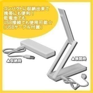(在庫処分特価!)LED スタンドライト 乾電池式ポータブルLEDライト USBケーブル付き LSM-55 アイリスオーヤマ|petkan