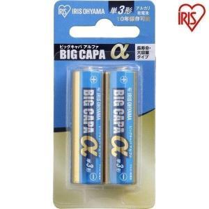 単3アルカリ乾電池 2本 ブリスターパック LR6IB/2B アイリスオーヤマ