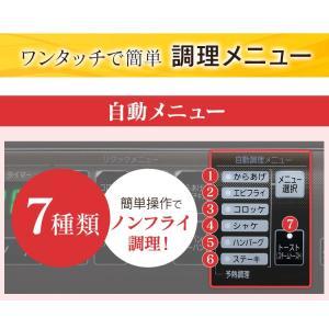 ノンフライ アイリスオーヤマ リクック スチーム リクック熱風オーブン シルバー FVX-M3B-S アイリスオーヤマ|petkan|10