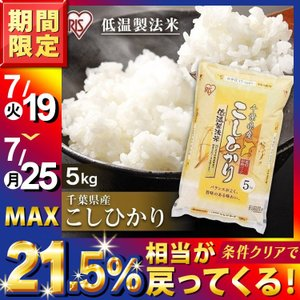 米 お米  5キロ アイリスの低温製法米 千葉県産こしひかり 5kg アイリスオーヤマ 米 ごはん うるち米 精白米の画像