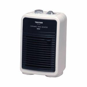 ミニセラミックヒーター 600W TS-161 ホワイト TEKNOS テクノス あったか 暖房家電 暖房器具 ホット
