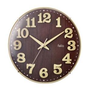 見やすい立体的な文字板が印象的な、おしゃれな掛け時計です♪ 連続して滑らかに動く、音の静かな連続秒針...