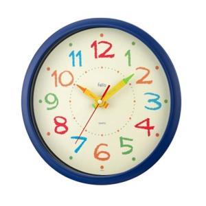 クレヨンで描いたような、ポップなカラーリングの文字板が可愛らしい掛け時計です♪ インデックスや針など...