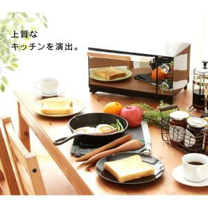 オーブントースター 4枚 おしゃれ コンパクト 温度調節 ミラー調オーブントースター POT-413-B アイリスオーヤマ petkan 03