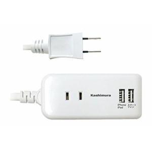 ・2口のACコンセントとUSB2ポートで最大4製品の使用が可能。USB付き電源タップです。 ・ACコ...