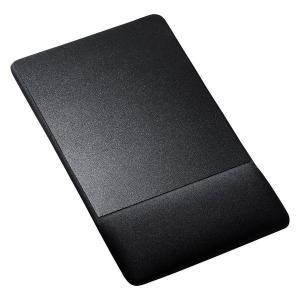 リストレスト付きマウスパッド(布素材、高さ標準、ブラック)  MPD-GELNNBK サンワサプライ (TC)|petkan