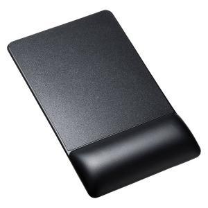リストレスト付きマウスパッド(レザー調素材、高さ高め) MPD-GELPHBK サンワサプライ (TC)|petkan
