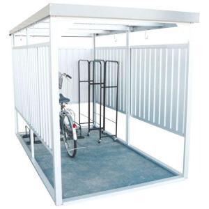 物置 小屋 自転車 屋外 収納 サイクルハウス サイクルガレージ 万能物置 シルバー DM-14n ダイマツ (代引不可)(TD)|petkan