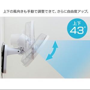 扇風機 壁掛け リモコン 30cm 壁掛リモコン扇風機 KI-W280RI TEKNOS (D)(あすつく)|petkan|16