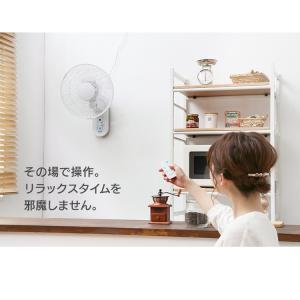 扇風機 壁掛け リモコン 30cm 壁掛リモコン扇風機 KI-W280RI TEKNOS (D)(あすつく)|petkan|10